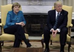 President Donald Trump German Chancellor Angela Merkel at the White House, Friday, March 17, 2017, in Washington.